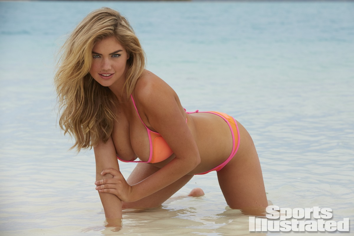 Kate Upton was photographed by James Macari in the Cook Islands. Swimsuit by Pitusa.