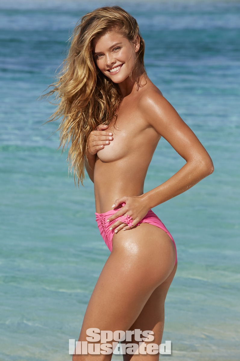 Nina Agdal was photographed by James Macari in the Cook Islands. Swimsuit by Maui Girl by Debbie Wilson.