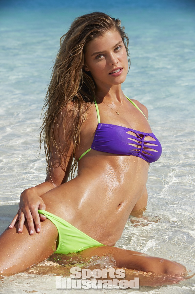 Nina Agdal was photographed by James Macari in the Cook Islands. Swimsuit by Kate Swim.