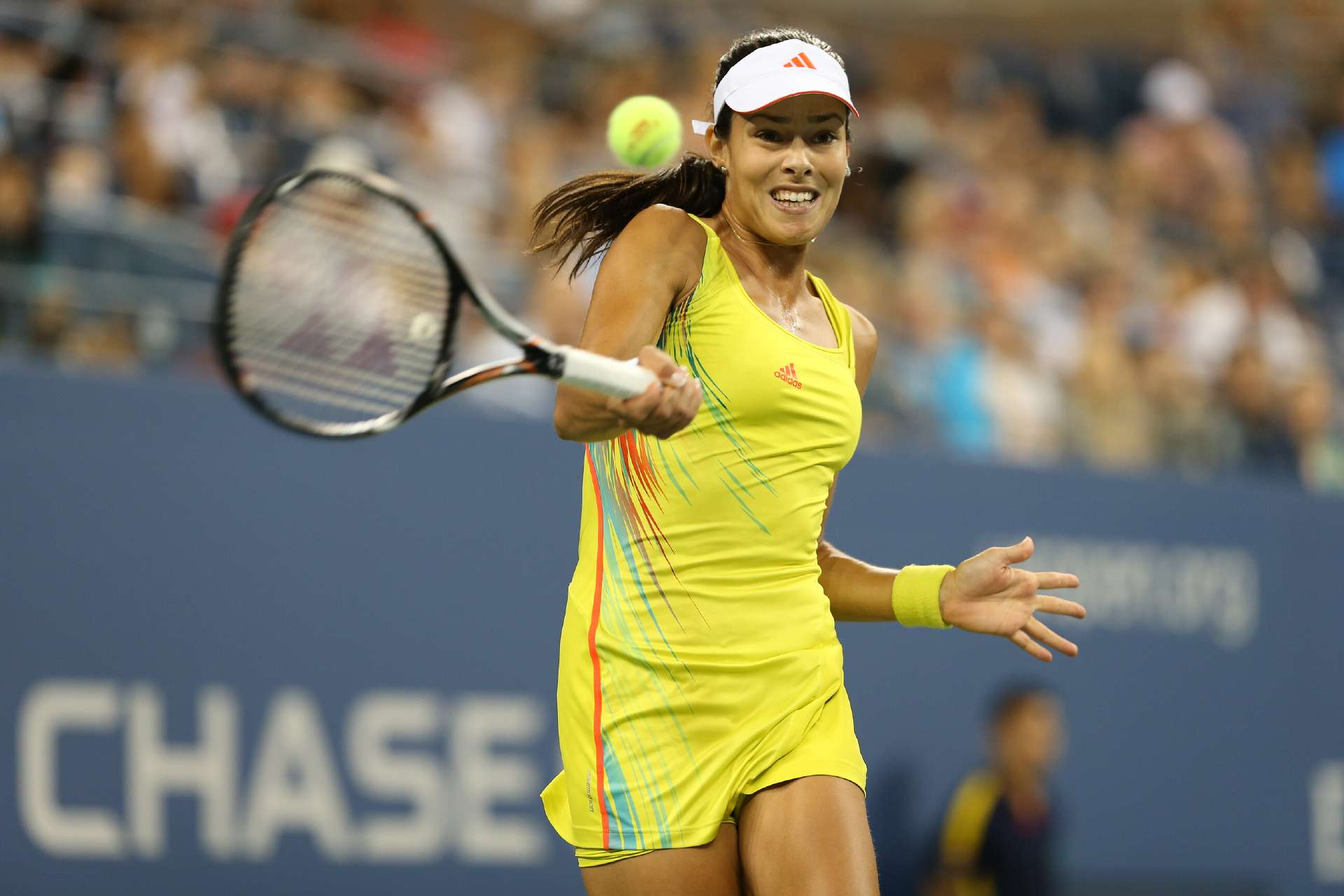 Ivanovic actually pulled off this neon-yellow look better than others did at the 2012 U.S. Open.