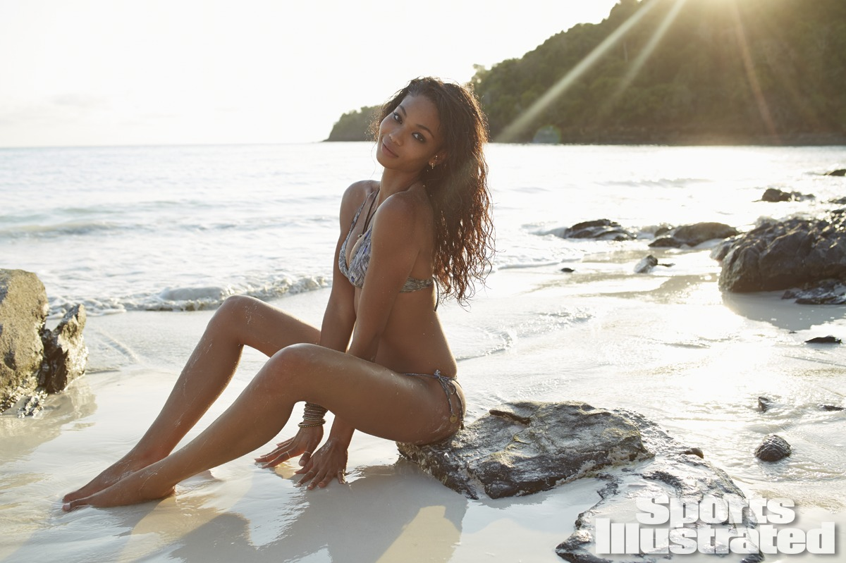 Chanel Iman was photographed by Derek Kettela in Madagascar. Swimsuit by SOFIA by VIX.