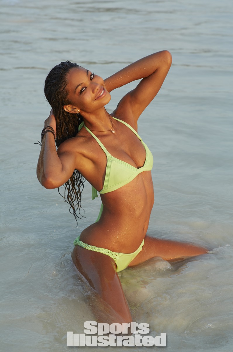 Chanel Iman was photographed by Derek Kettela in Madagascar. Swimsuit by Tori Praver Swimwear.