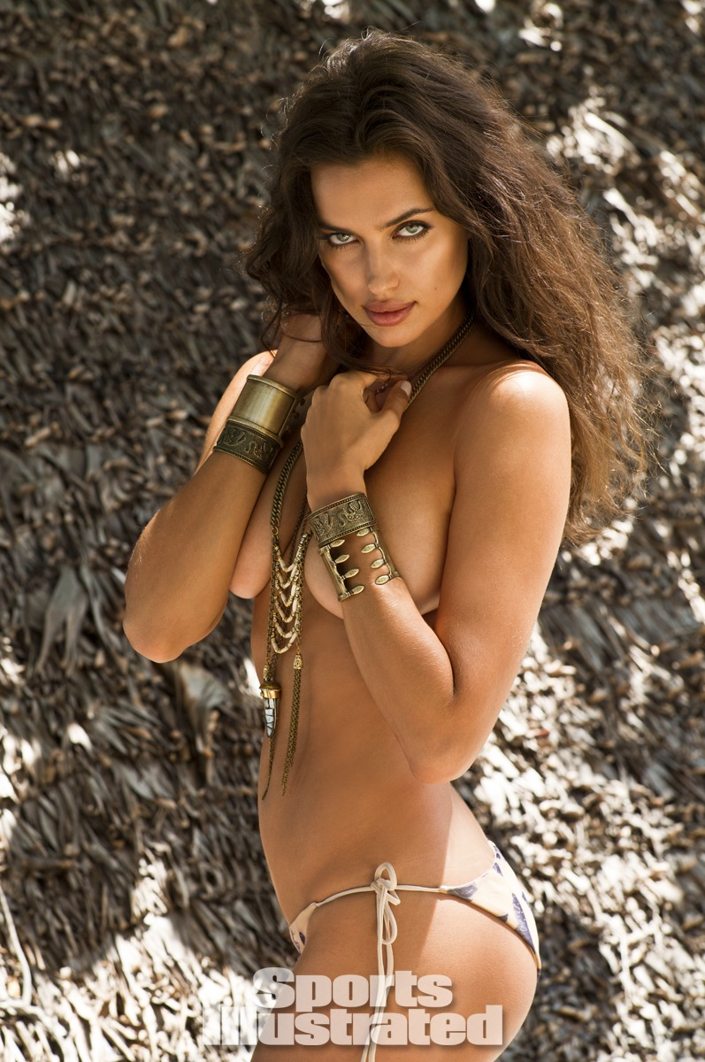 Irina Shayk was photographed by Derek Kettela in Madagascar. Swimsuit by CALi DREAMiNG.