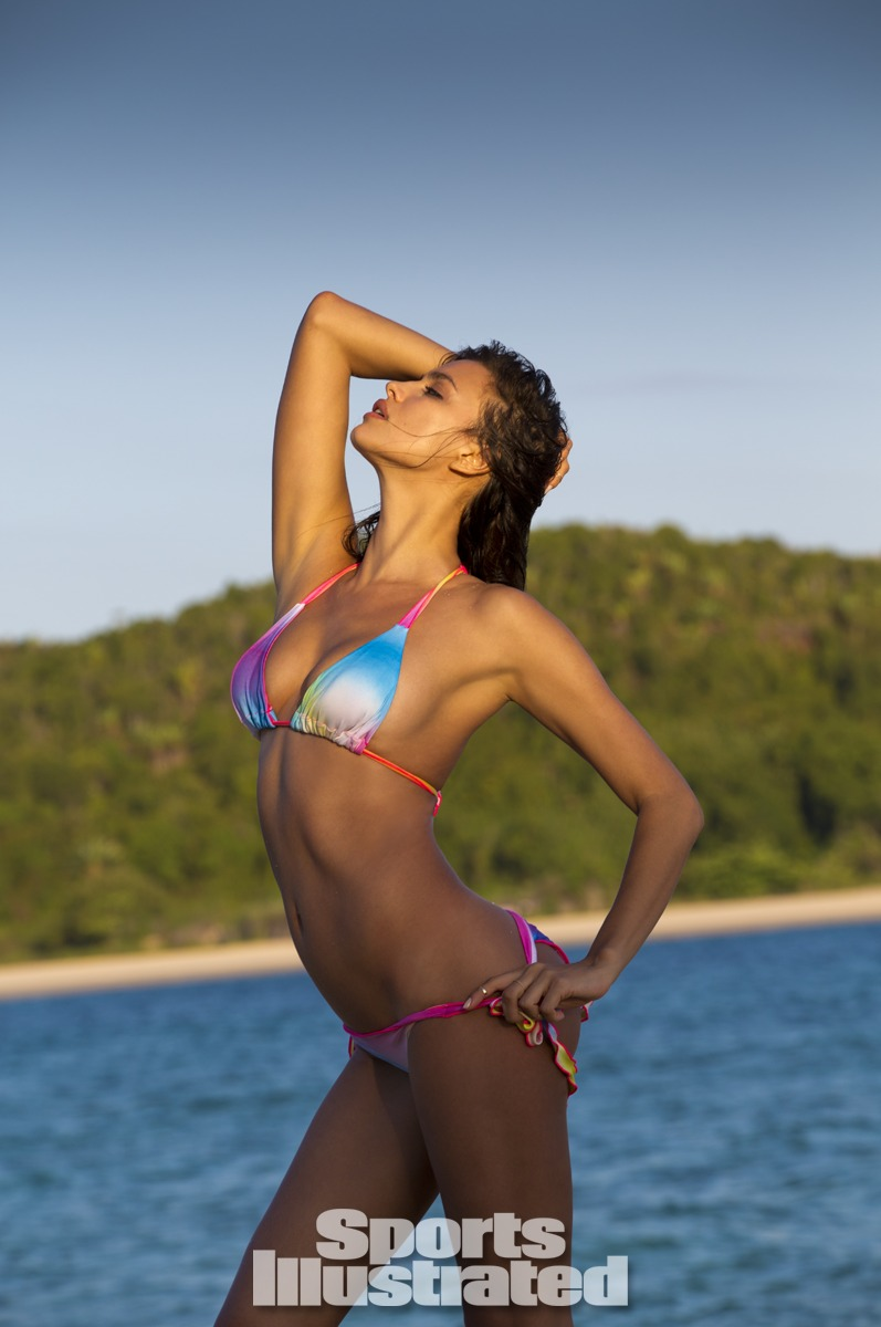Irina Shayk was photographed by Derek Kettela in Madagascar. Swimsuit by Indie Soul.