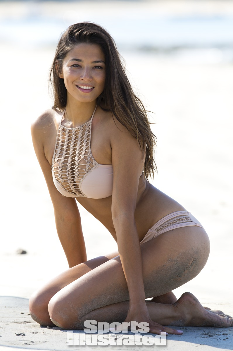 Jessica Gomes was photographed by Derek Kettela in Madagascar. Swimsuit by Acacia Swimwear.