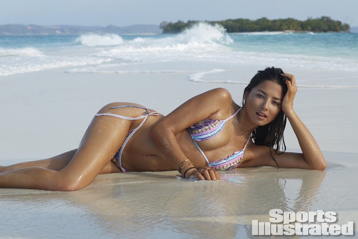 Jessica Gomes was photographed by Derek Kettela in Madagascar. Swimsuit by Agua Bendita.