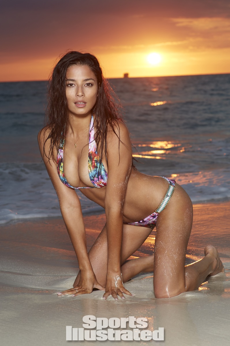 Jessica Gomes was photographed by Derek Kettela in Madagascar. Swimsuit by Beach Bunny Swimwear.