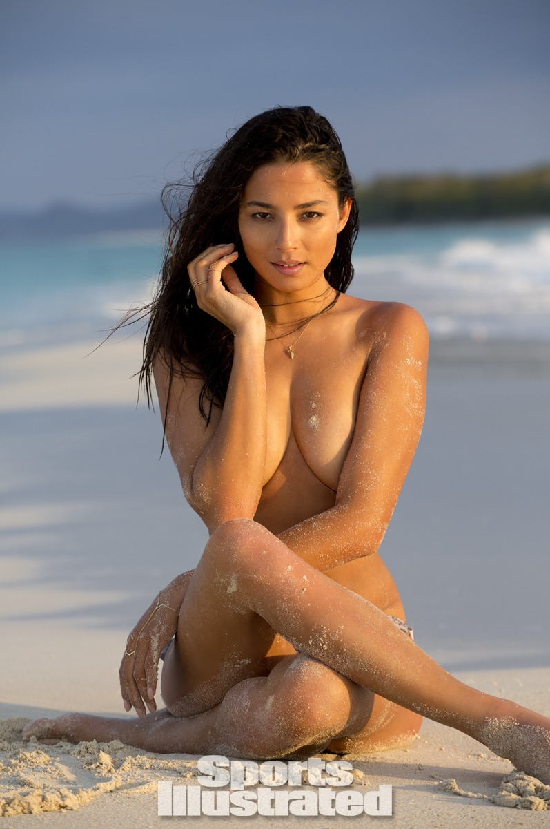 Jessica Gomes was photographed by Derek Kettela in Madagascar. Swimsuit by Tori Praver Swimwear.