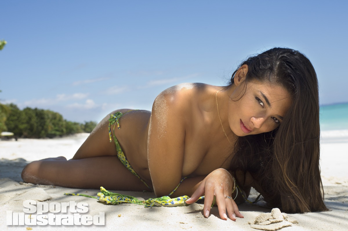 Jessica Gomes was photographed by Derek Kettela in Madagascar. Swimsuit by Lenny Niemeyer.