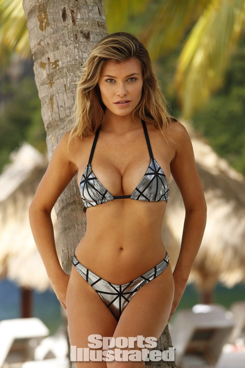 Samantha Hoopes was photographed by Walter Iooss Jr. in St. Lucia. Swimsuit by Ola Vida.