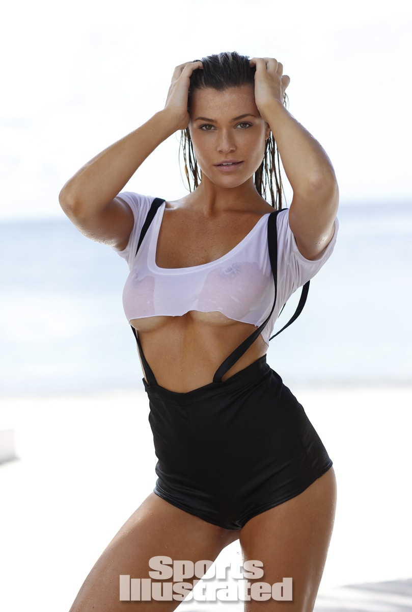 Samantha Hoopes was photographed by Walter Iooss Jr. in St. Lucia. Swimsuit by Indah.
