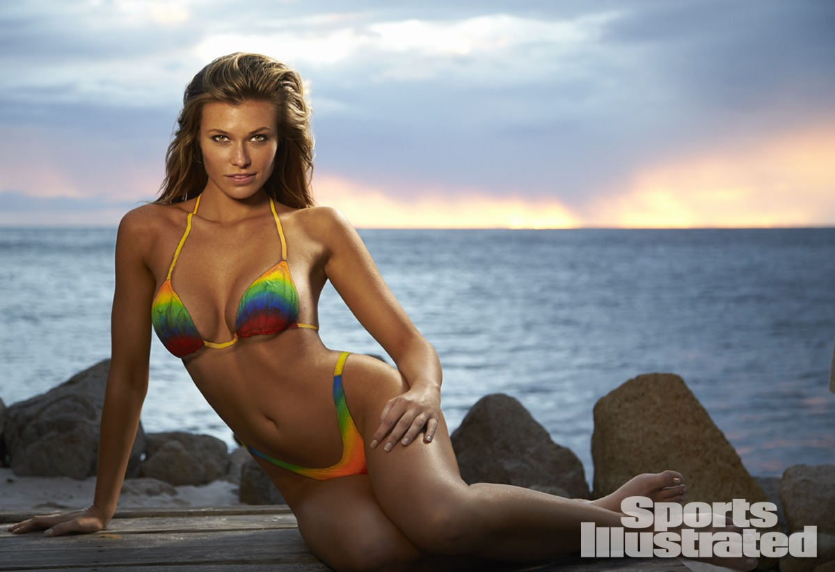 e83ea7a6f6837 Samantha Hoopes was photographed by Walter Iooss Jr. in St. Lucia. Swimsuit  inspired