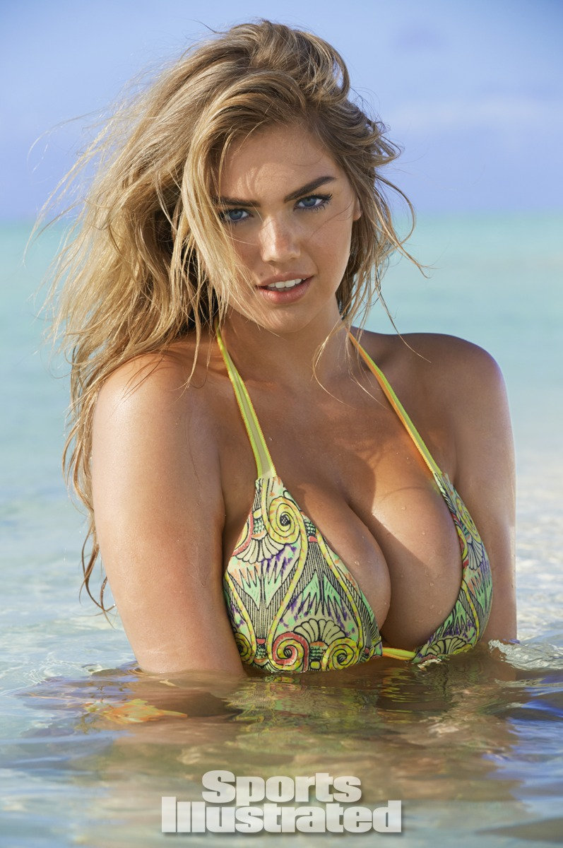 Kate Upton was photographed by James Macari in the Cook Islands. Swimsuit by Martha Rey for The La Boheme.