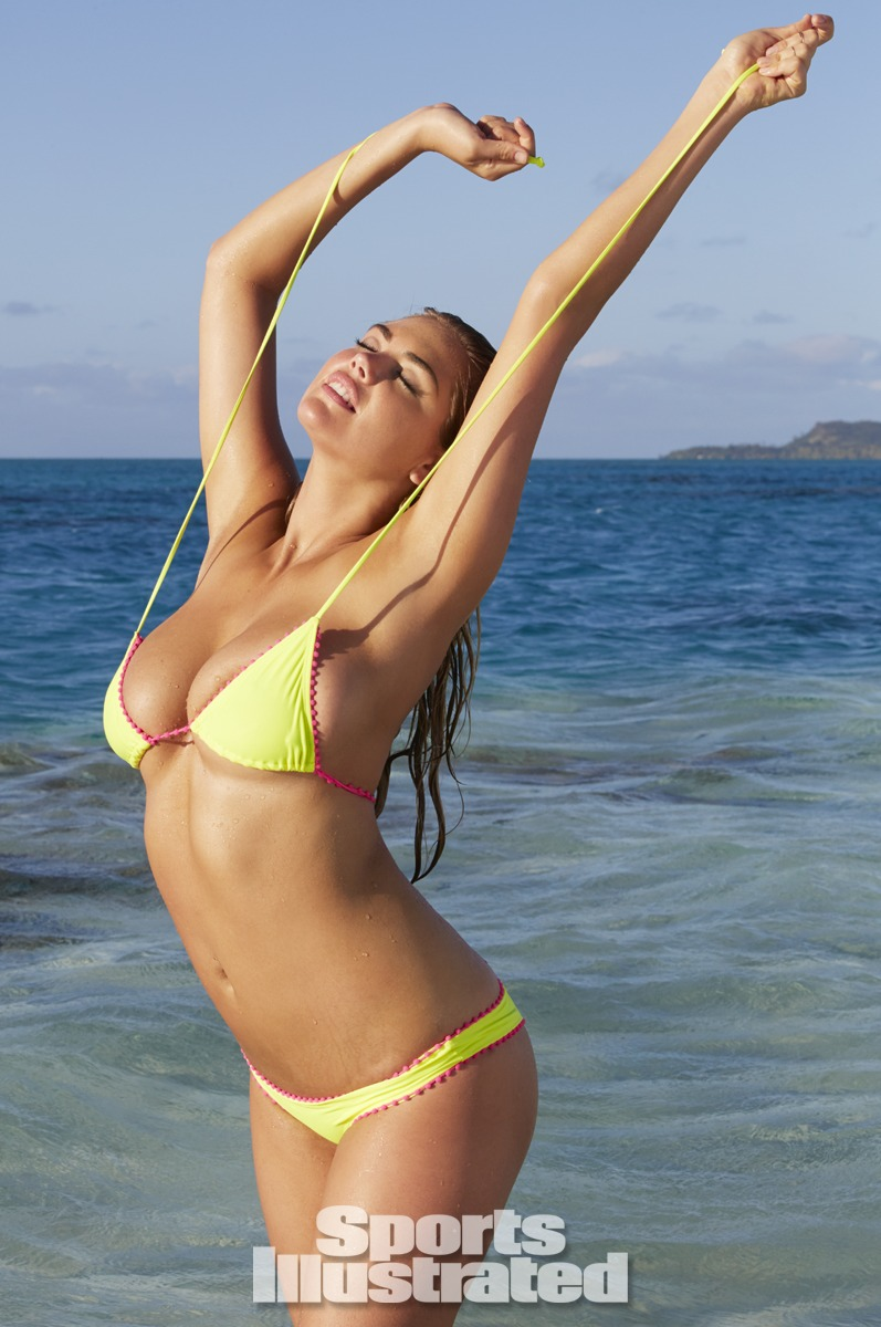 Kate Upton was photographed by James Macari in the Cook Islands. Swimsuit by Luli Fama.
