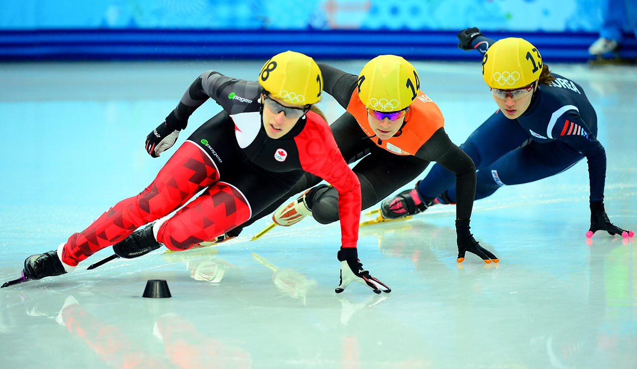 Seung-Hi Park of Korea, Marianne St. Gegais of Canada and Yara Van Kerkhof of the Netherlands.