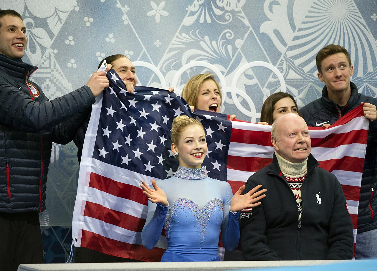 Gracie Gold with coach Carroll.