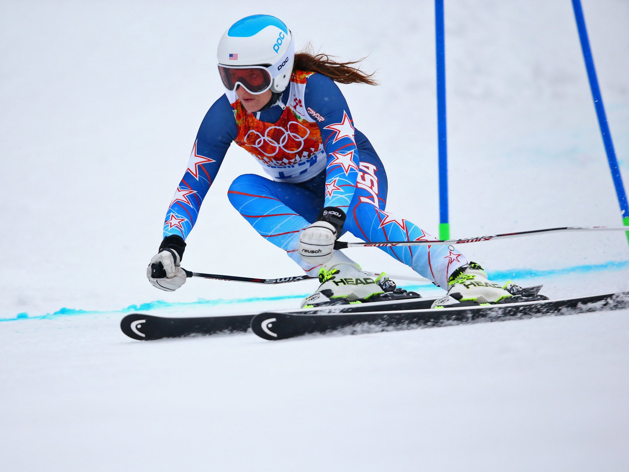 Mancuso missed a gate during the women's giant slalom competition and failed to finish her run.