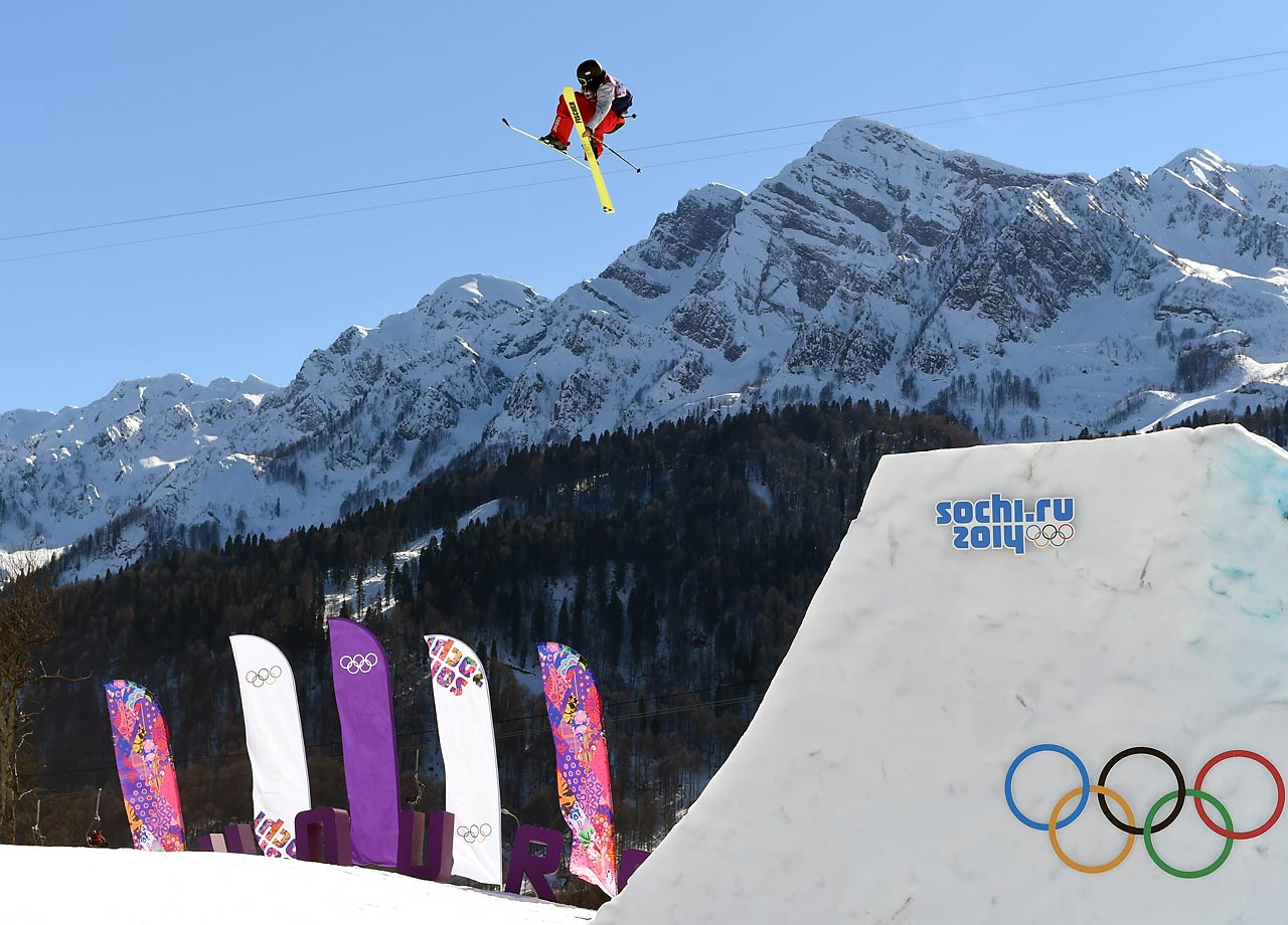 Joss Christensen of the U.S. catching huge air in the  Slopestyle.