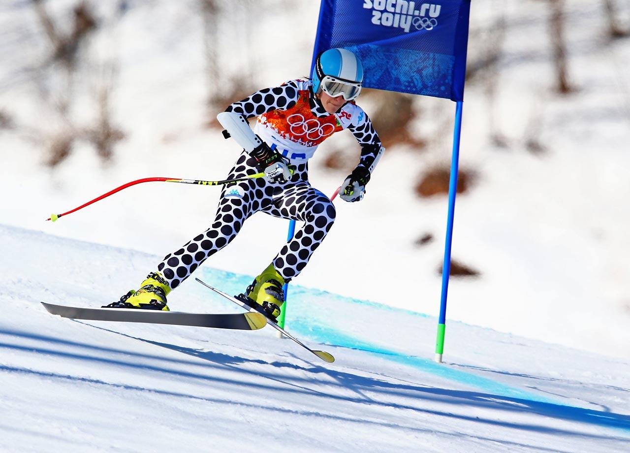 Macarena Simari Birkner of Argentina in the Super-G.