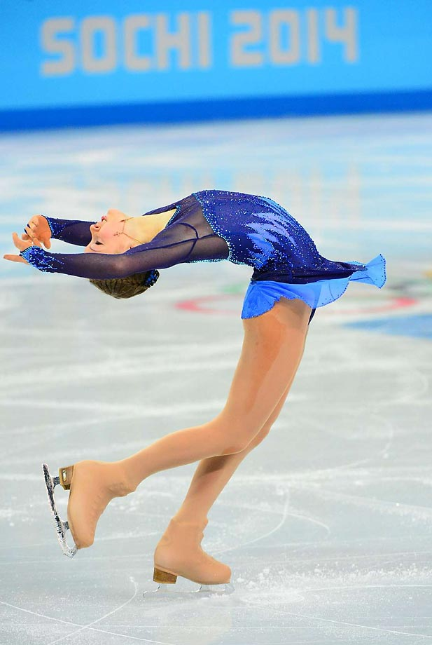 Yulia Lipnitskaya is in fifth place after the short program.