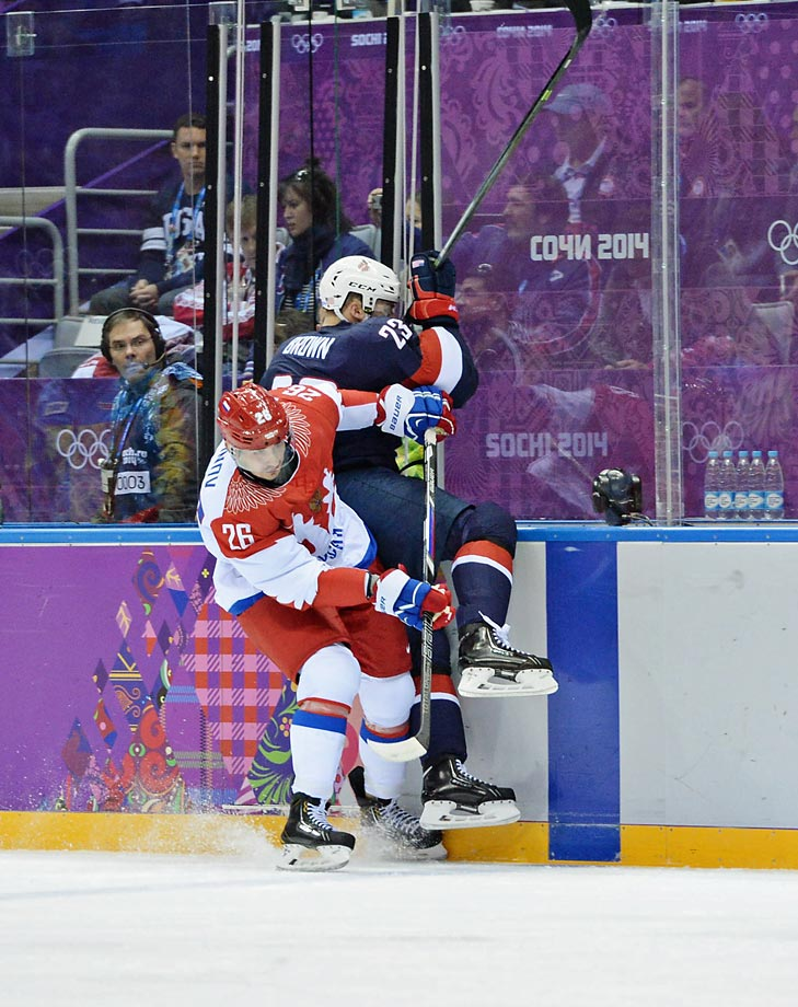 Joe Pavelski and Cam Fowler scored powerplay goals for the Americans with both coming while Russian forward Alexander Radulov was sitting in the penalty box.