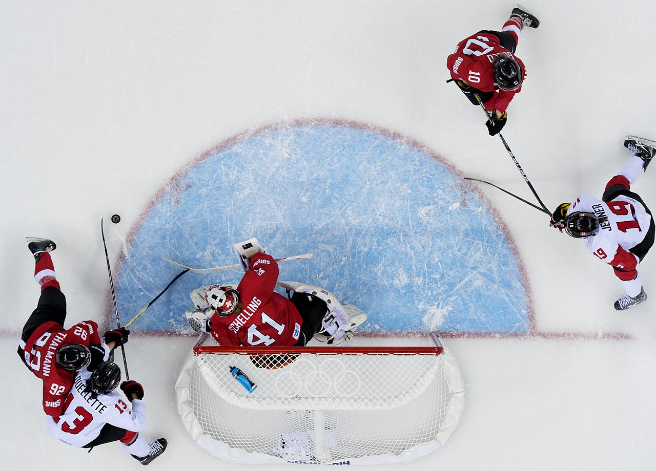 Swiss goalie Florence Schelling, who went to Northeastern University in Boston, made 45 saves in what was the closest game against Canada in Swiss Olympic history. The Swiss will play Sweden on Thursday for the bronze medal.