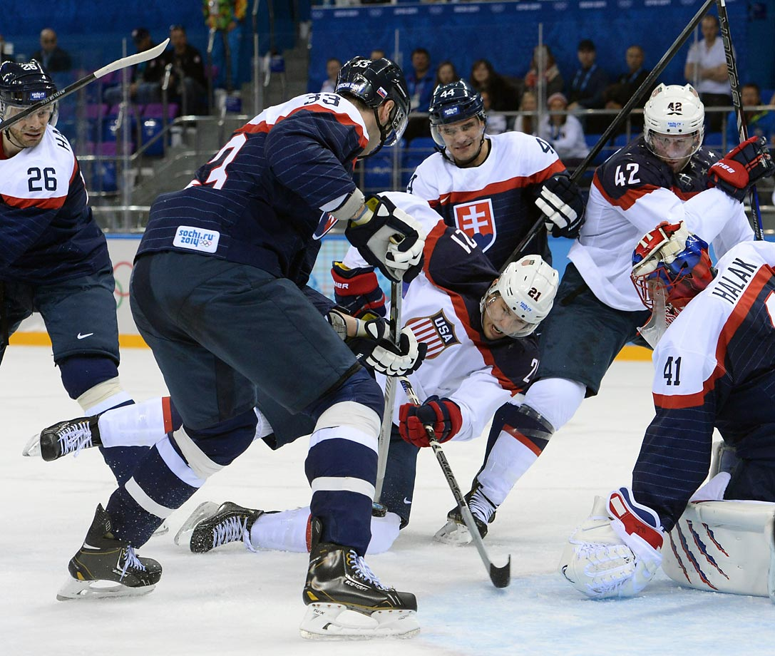 James Van Riemsdyk of the U.S. during the 7-1 win over Slovakia.