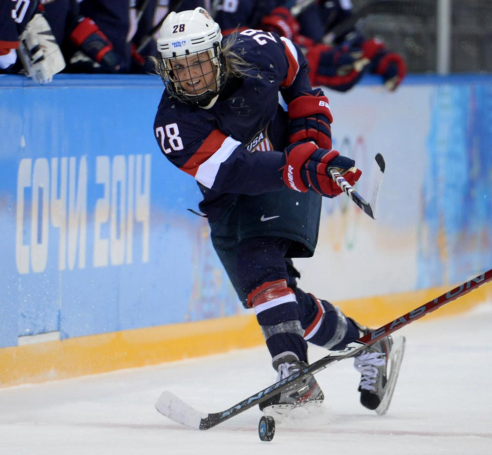 Amanda Kessel and her teammates outshot Sweden 70-9. Megan Bozek, Kendall Coyne and Brianna Decker each had a goal and two assists for the U.S.