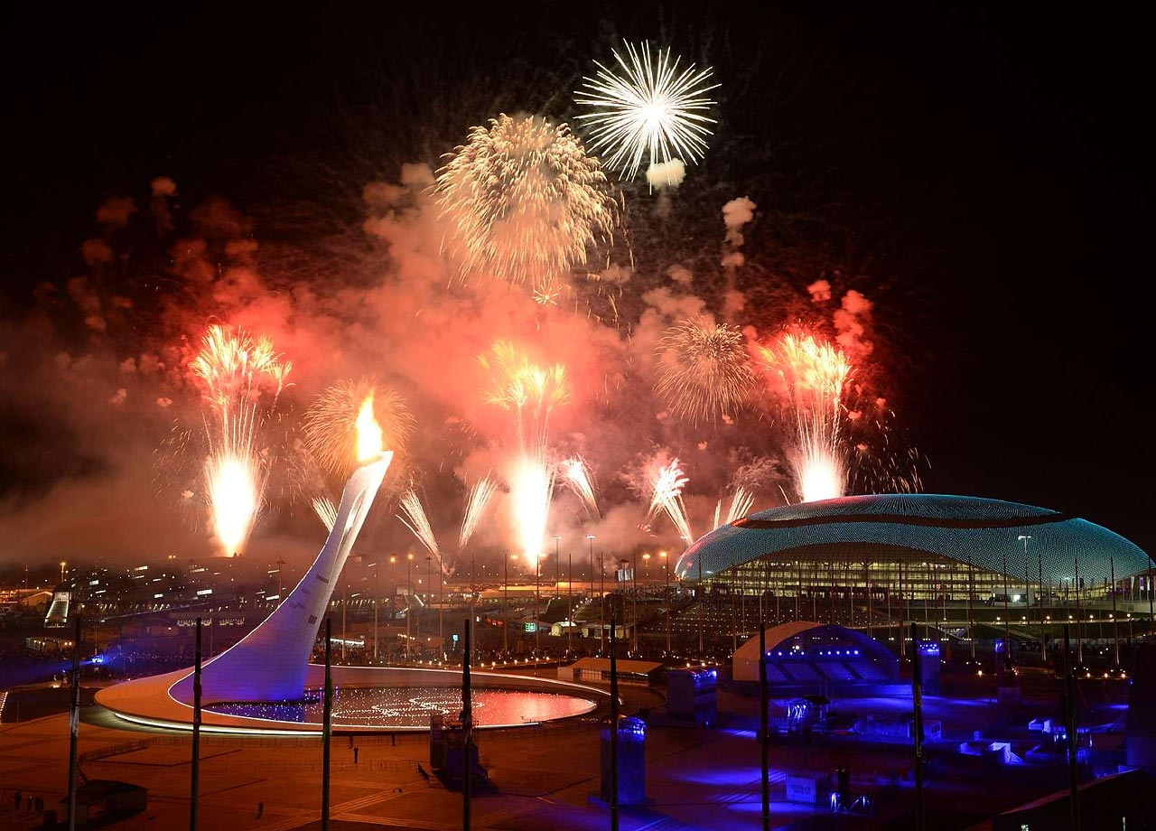 The Opening Ceremonies of the Sochi Games featured a magnificent fireworks display.