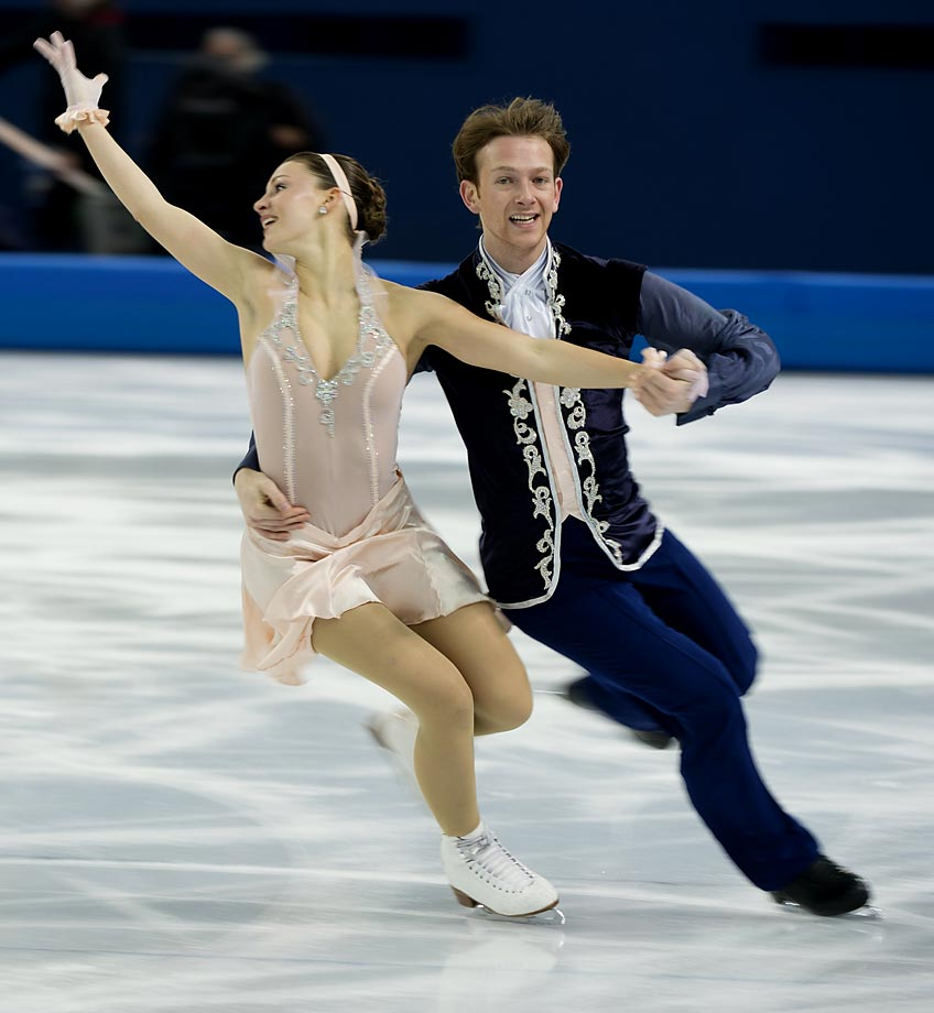 Tanja Kolbe and Stefano Caruso of Germany.