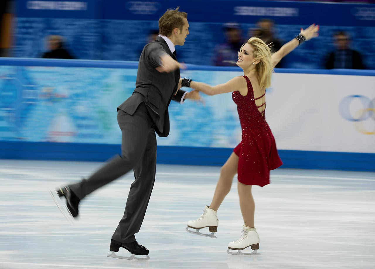 Isabella Tobias and Deividas Stagniunas of Lithuania.