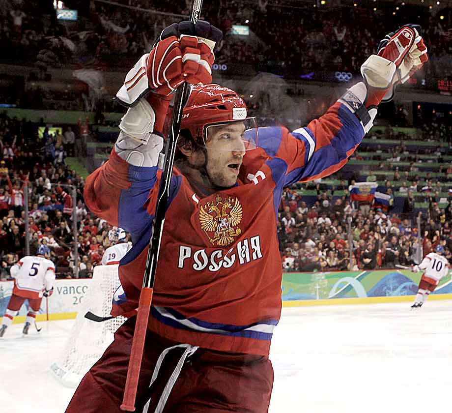 Is there any athlete in any sport from any country under greater pressure to perform than Ovechkin? Russian hockey has been in decline since the breakup of the Soviet Union, but Ovechkin has been so eager for Sochi that even before NHL players were confirmed to play in the Olympics, he said he would leave the Capitals to play in the Games no matter what. The 28-year-old sniper is a three-time Hart-Trophy winner, and a five-time winner of the Kharlamov Trophy as the top Russian player in the world. He has scored an astounding 407 goals in just 649 NHL games. -- Brian Cazeneuve