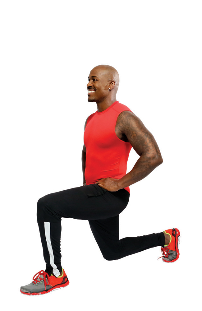 3. Forward Lunges (30 seconds)