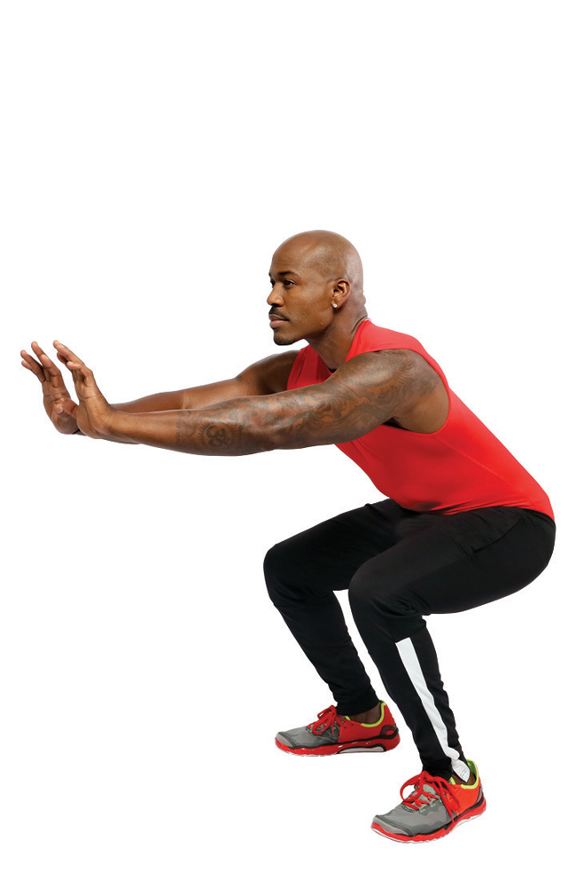 Repeat Interval C, then do:                                 6. Squats (30 seconds)