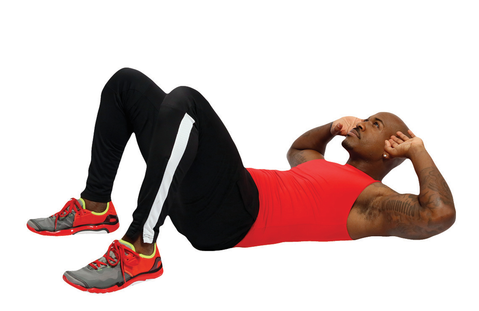 Repeat Interval A, then do:                                 Crunches (60 seconds)