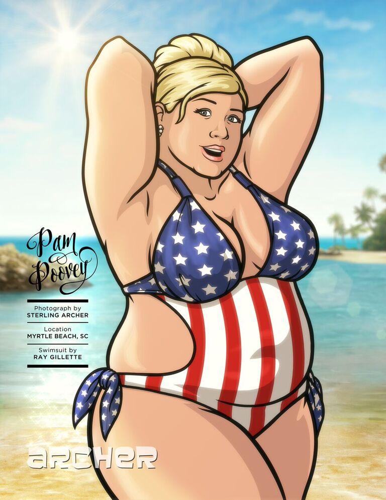 Bikini model cartoons