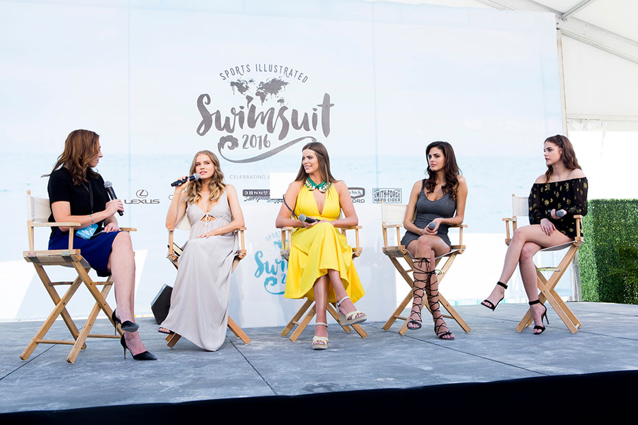 Maggie Gray (moderator), Tanya Mityushina, Robyn Lawley, Bo and Barbara Palvin :: Photo by Taylor Ballantyne