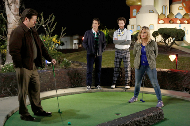 Parks and Recreation visit the mini-golf course during a Season 5 episode. (Getty Images)