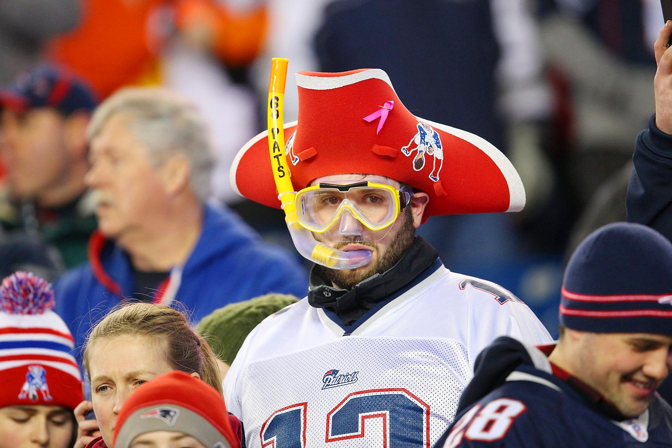 This Patriots fan might know something about deflated balls.