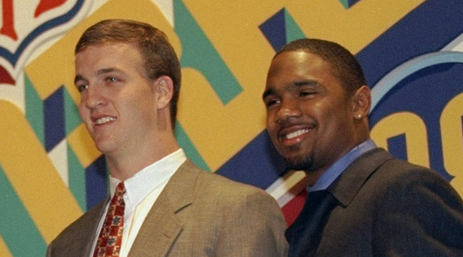 Manning and Woodson at the 1997 Heisman ceremony.
