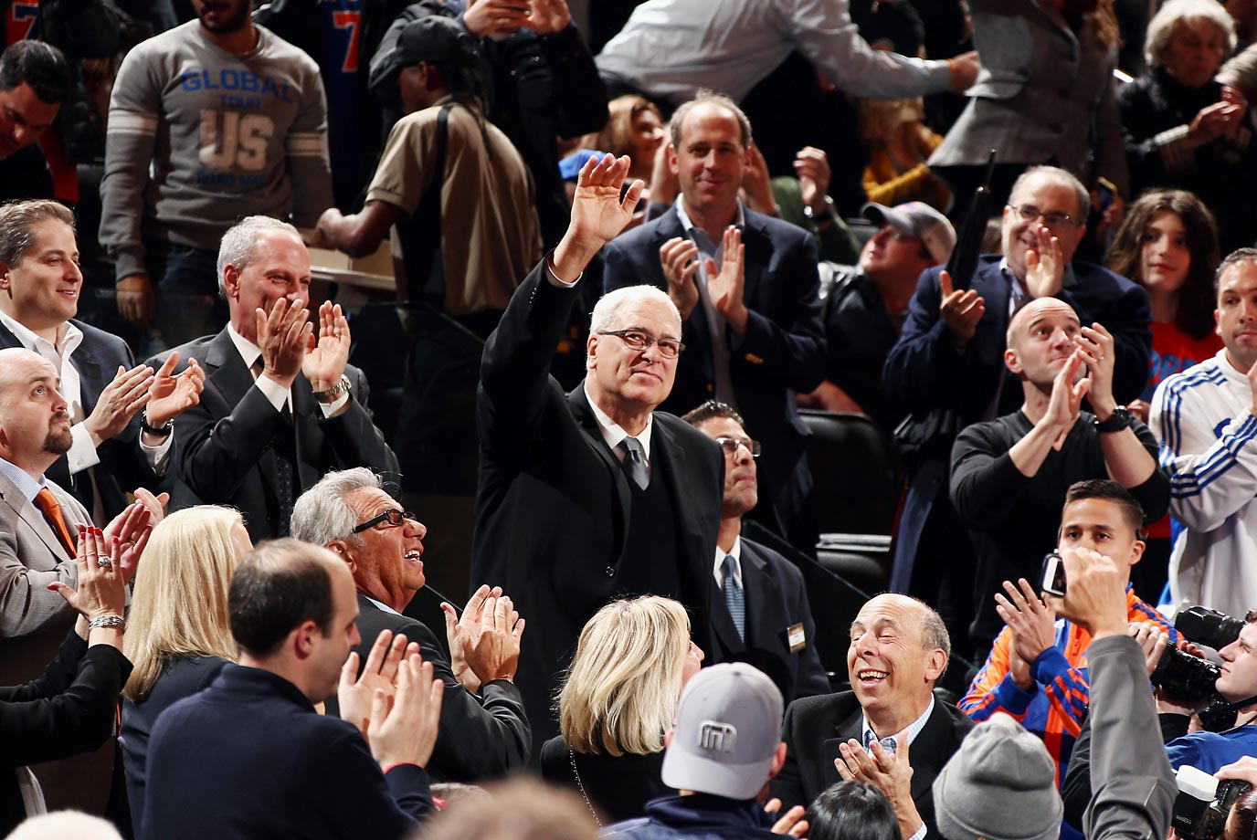 In March, the New York Knicks made a tremendous front office splash, bringing 11-time NBA champion head coach Phil Jackson on as team president. Jackson, who as a player was a member of the Knicks' only two title-winning teams in 1970 and '73, went 1,155-485 in 20 seasons coaching the Bulls and Lakers. The struggling Knicks, fighting for the East's final playoff seed, hoped he would be the man to right their ship.