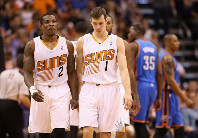Phoenix Suns guards Eric Bledsoe and Goran Dragic.