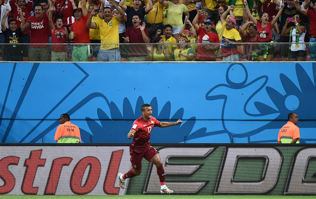 His goal was the first in this World Cup for Portugal, which was shut out 4-0 by Germany in both team's opener.