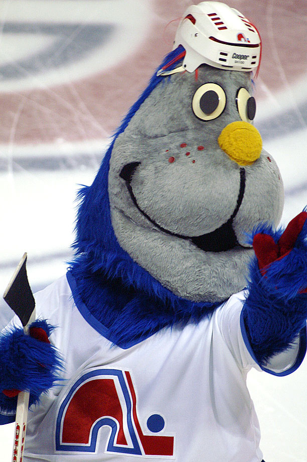 I am the Walrus? The Nordiques' mascot, which must have a sibling named Badabing, was abandoned when the team moved to Colorado, became the Avalanche, and upgraded to Howler the Yeti.