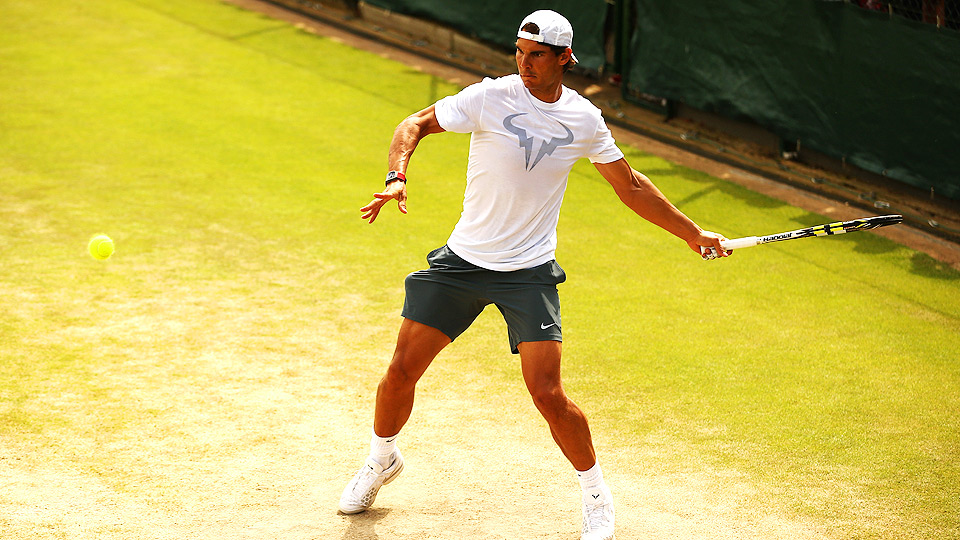 After resting his ailing back at home, Rafael Nadal is ready for the challenge Wimbledon poses.