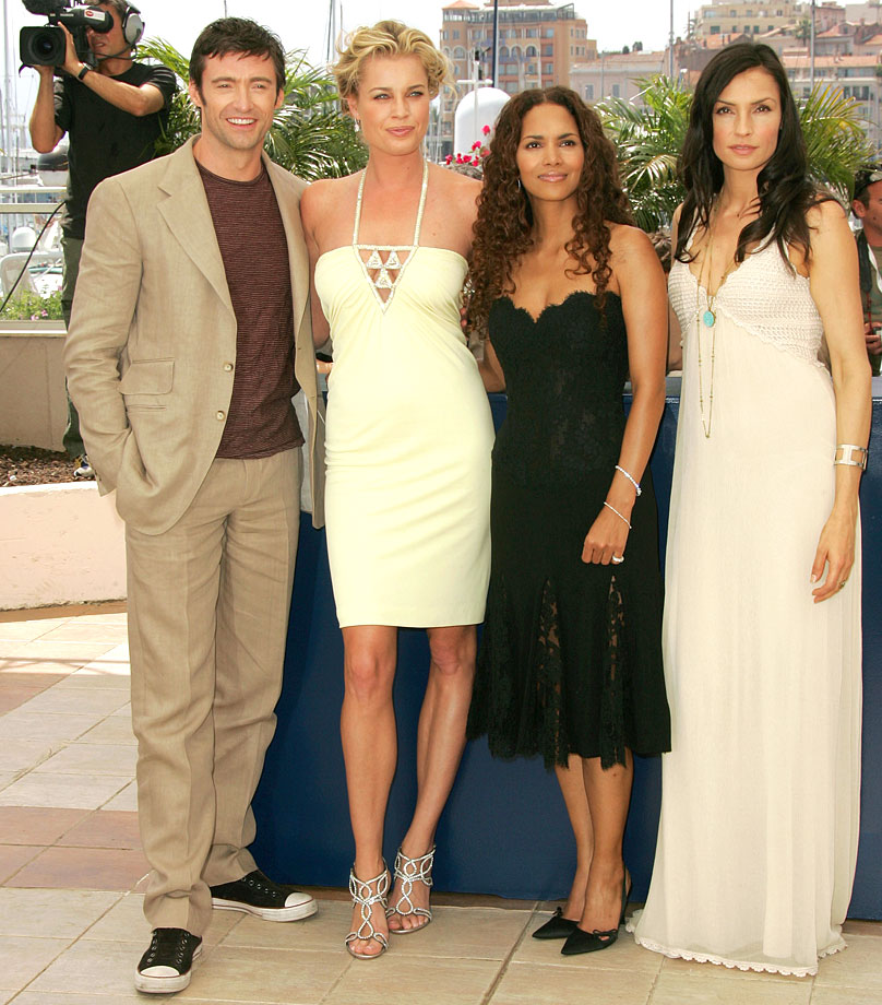 with Hugh Jackman, Halle Berry and Famke Janssen for X-Men: The Last Stand (2006) -- Other notable films: X-Men (2000), Femme Fatale (2002), X2: X-Men United (2003), The Punisher (2004), Godsend (2004), Man About Town (2006), Lake City (2008)