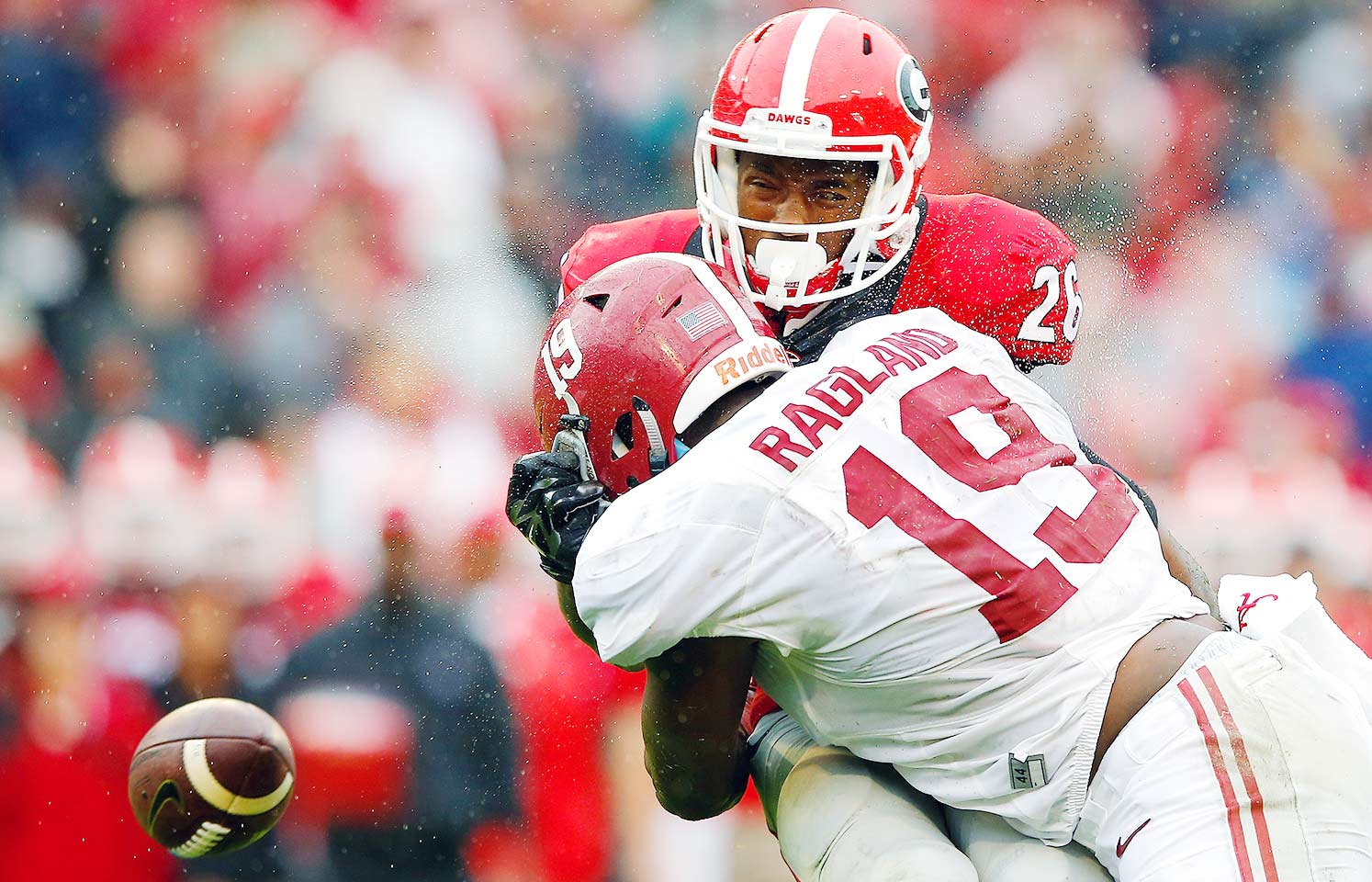 Alabama 38, Georgia 10: A highly anticipated matchup with the unbeaten Bulldogs turned into a rout. The Crimson Tide sent Georgia starting quarterback Greyson Lambert to the bench, contained vaunted running back Nick Chubb for all but one meaningless late touchdown run and moved the ball efficiently on offense. Even special teams got into the mix with a touchdown for Minkah Fitzpatrick on a blocked punt.