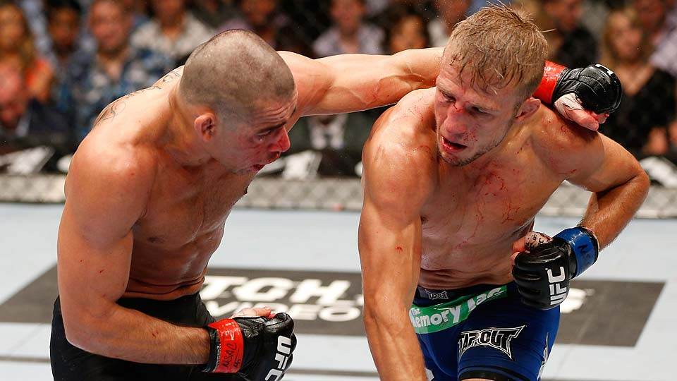 TJ Hillashaw got the better of Renan Barao in their May 2014 matchup in Las Vegas.