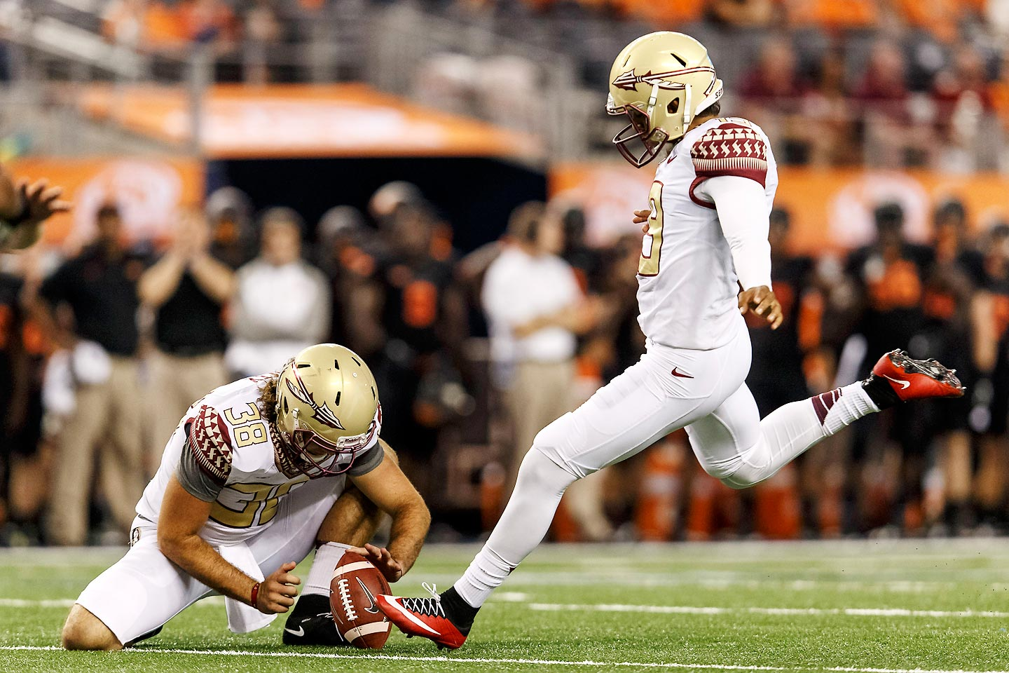 Aguayo has been lights out since 2013, when he won the Lou Groza award as a redshirt freshman. After hitting on 27-of-30 field goals last year (not a single miss came inside of 40 yards), the Seminoles kicker passed up on a chance to enter the NFL draft early.