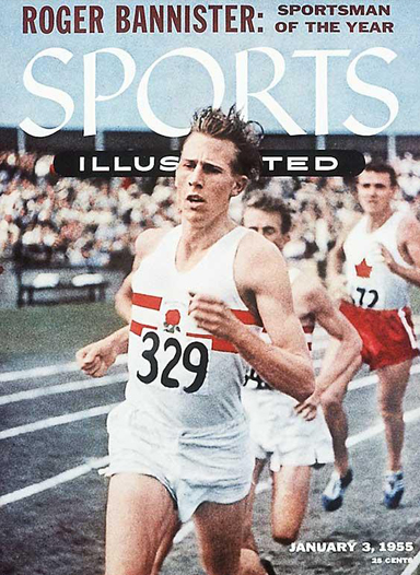 Roger Bannister on the cover of the January 3, 1955 issue of Sports Illustrated.